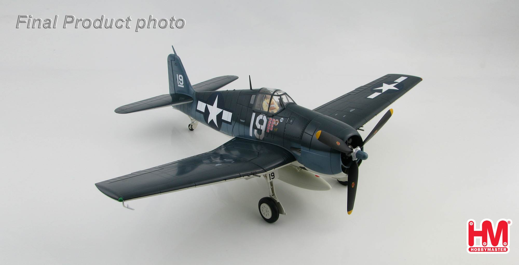 "Grumman F6F-3 ""Hellcat"" White 19 of VF-6, flown by Alex Vraciu USS Intrepid, Feb 1944"