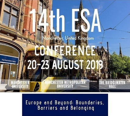 14 конференция ESA «Europe and Beyond: Boundaries, Barriers and Belonging»